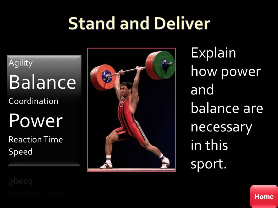 Balance Power Stand and Deliver