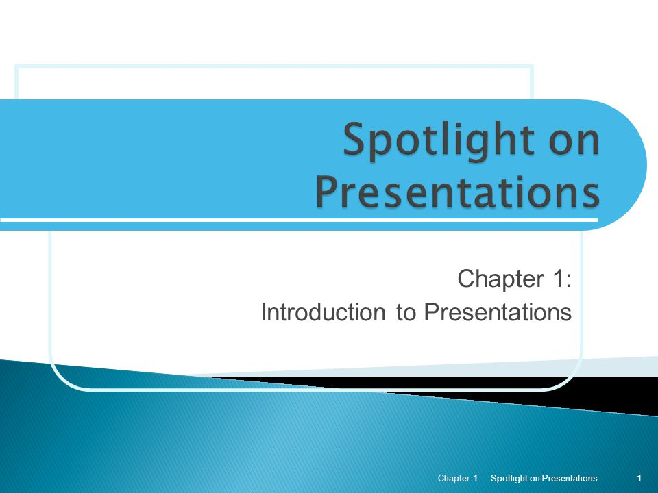 Spotlight on Presentations