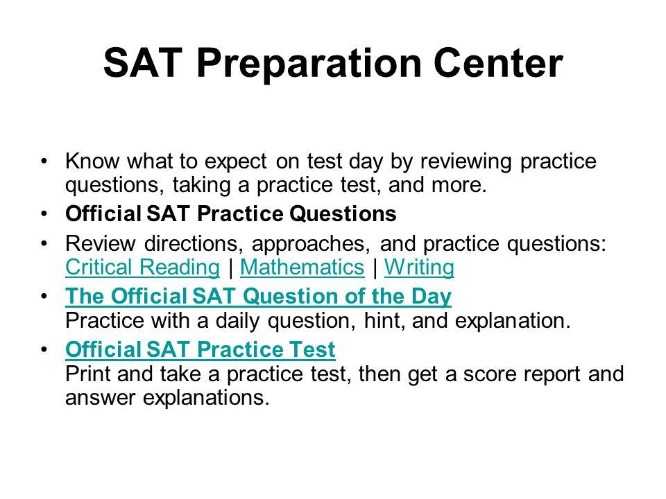 SAT Preparation Center
