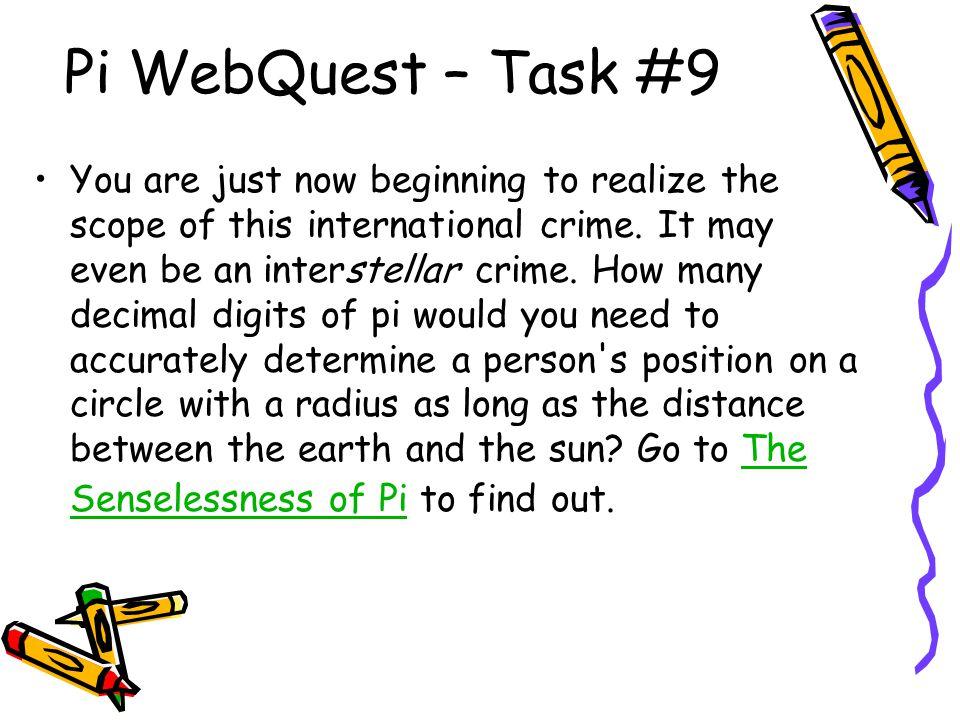 Pi WebQuest – Task #9