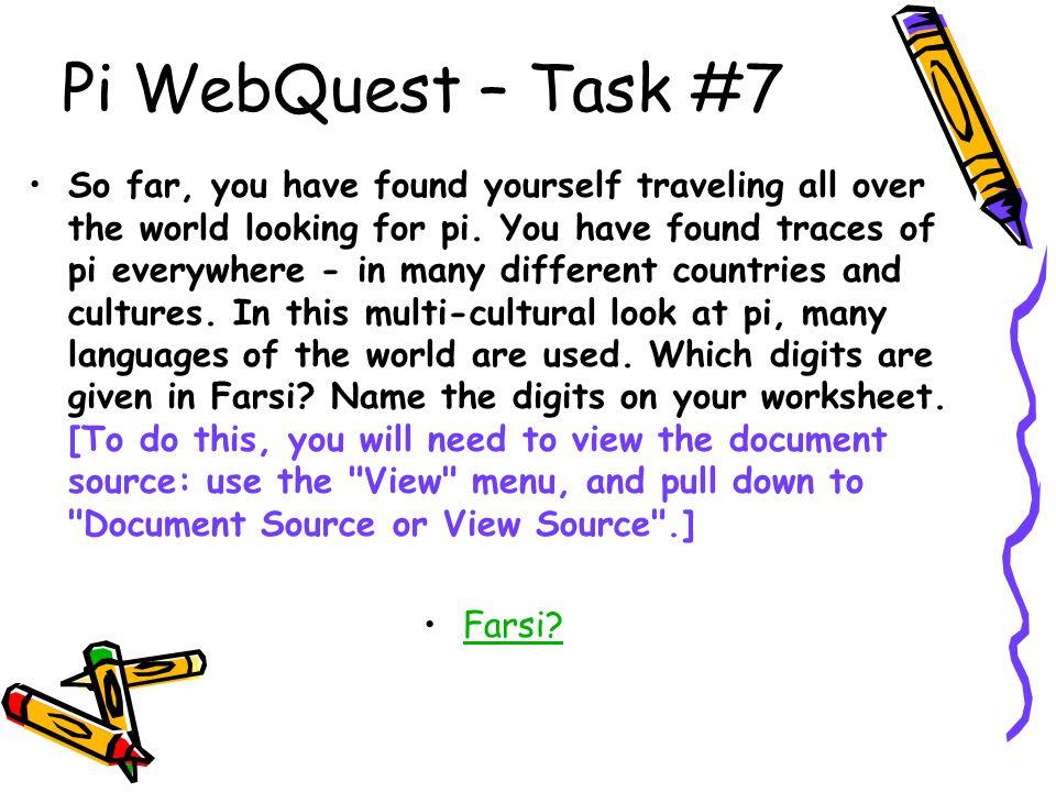 Pi WebQuest – Task #7