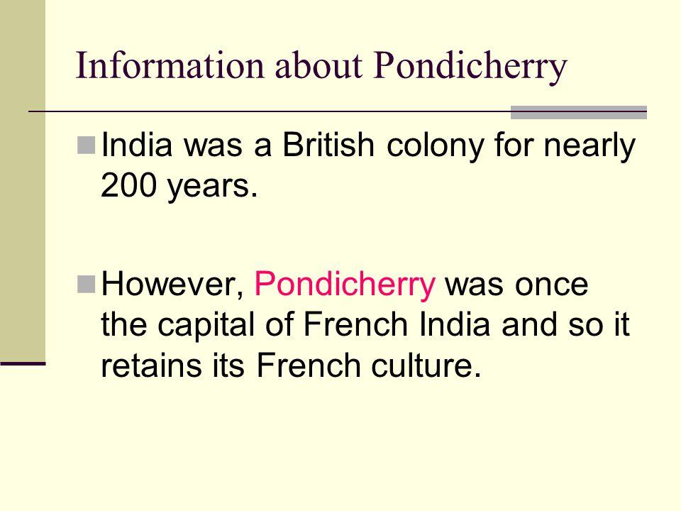 Information about Pondicherry