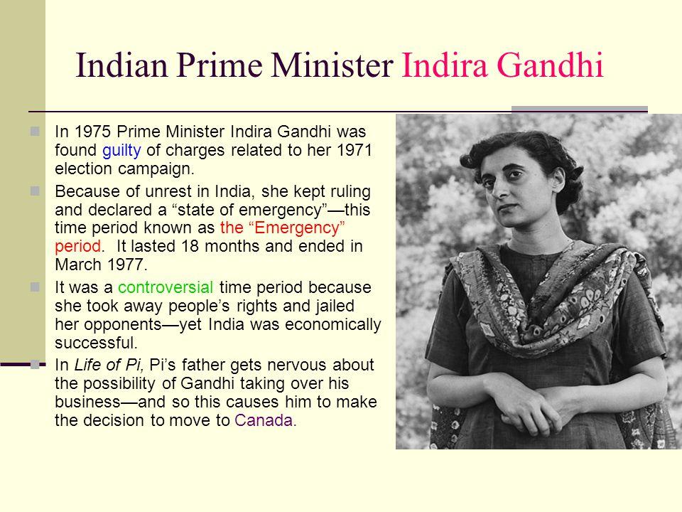 Indian Prime Minister Indira Gandhi