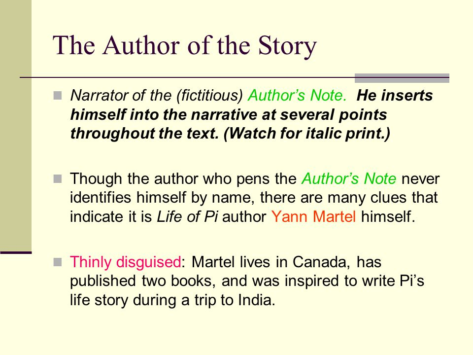 The Author of the Story