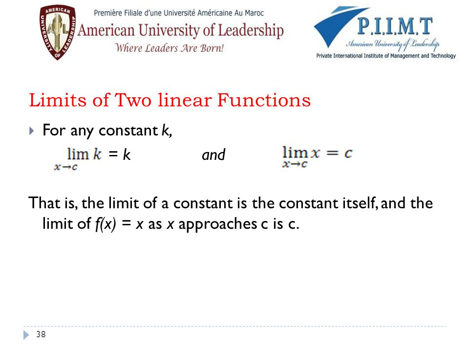 Limits of Two linear Functions