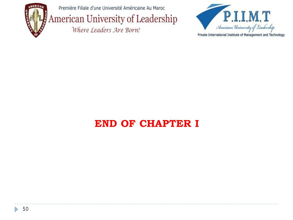 END OF CHAPTER I