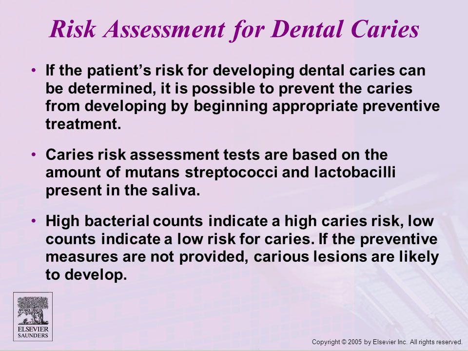 Risk Assessment for Dental Caries