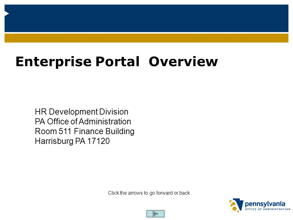 Enterprise Portal Overview