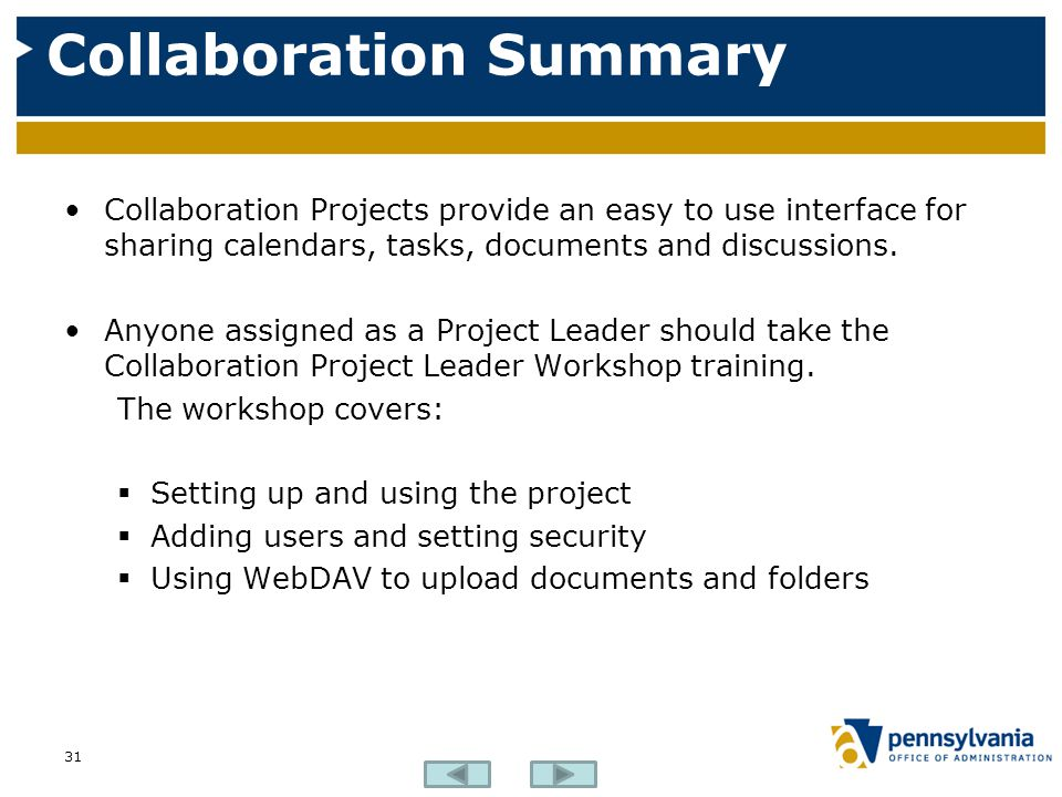 Collaboration Summary
