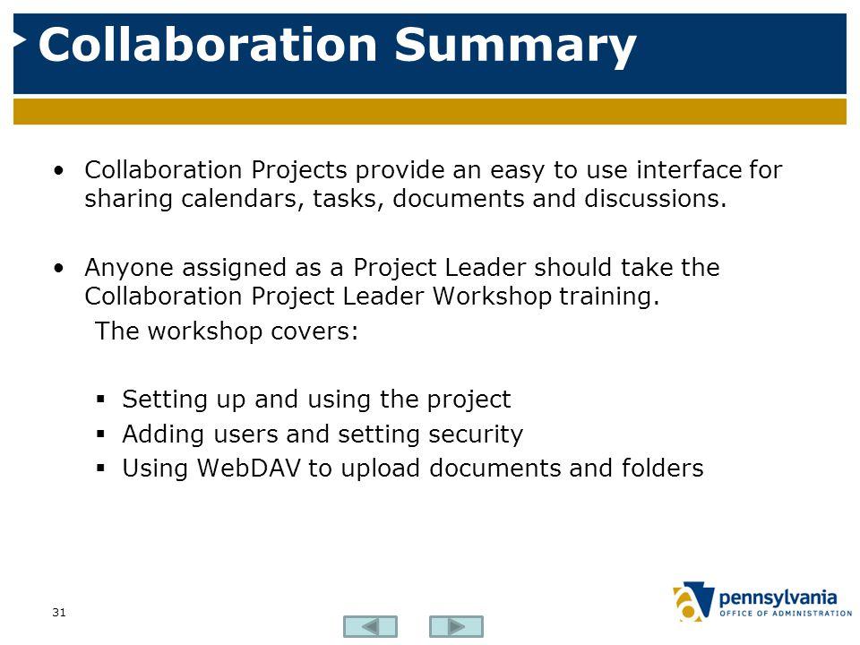 Collaboration Summary