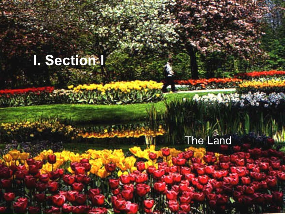 I. Section I The Land