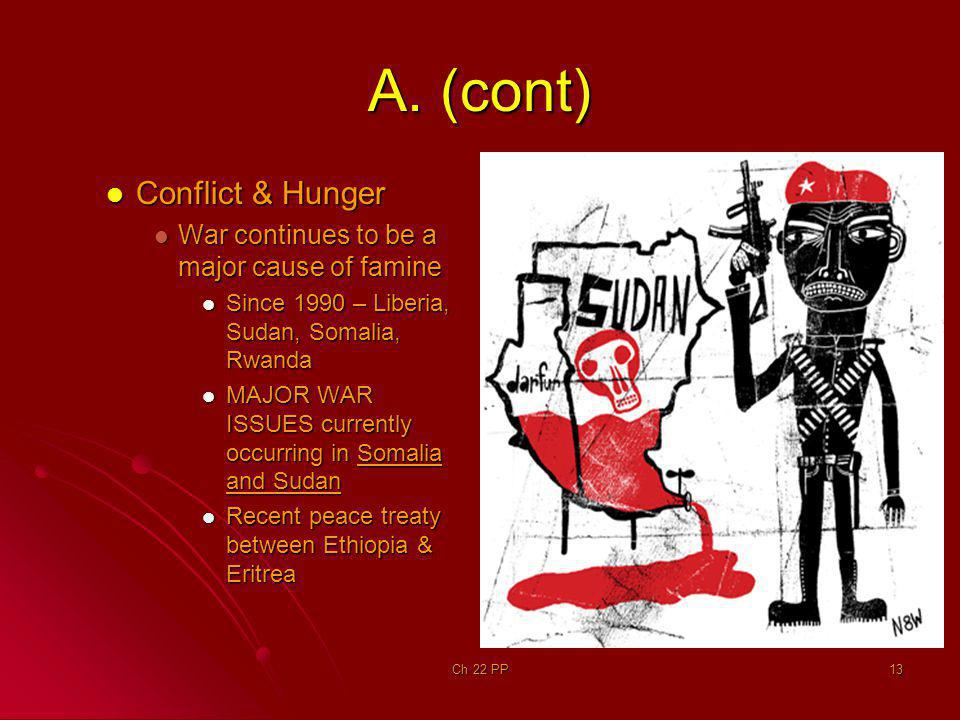 A. (cont) Conflict & Hunger