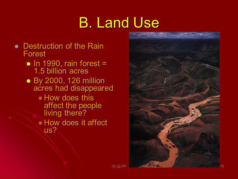 B. Land Use Destruction of the Rain Forest