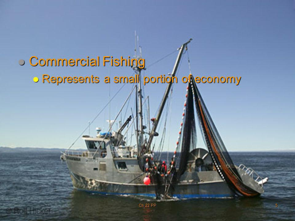 Commercial Fishing Represents a small portion of economy Ch 22 PP