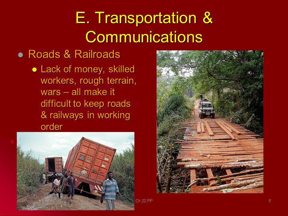 E. Transportation & Communications