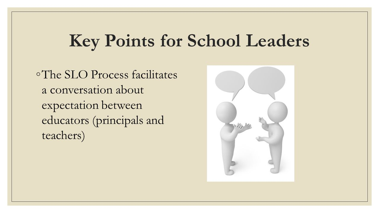 Key Points for School Leaders