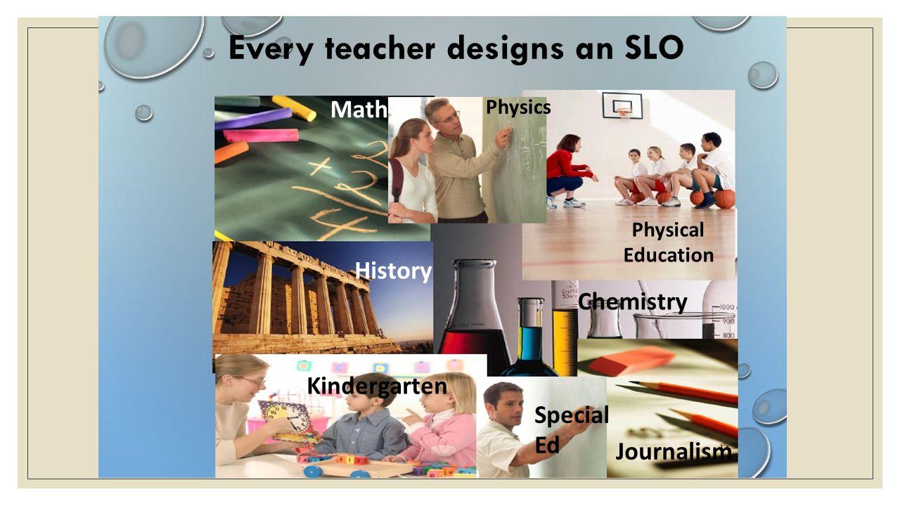 Every teacher designs an SLO