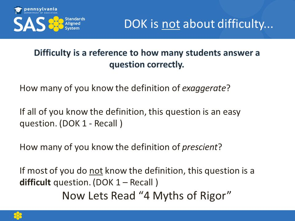 Now Lets Read 4 Myths of Rigor