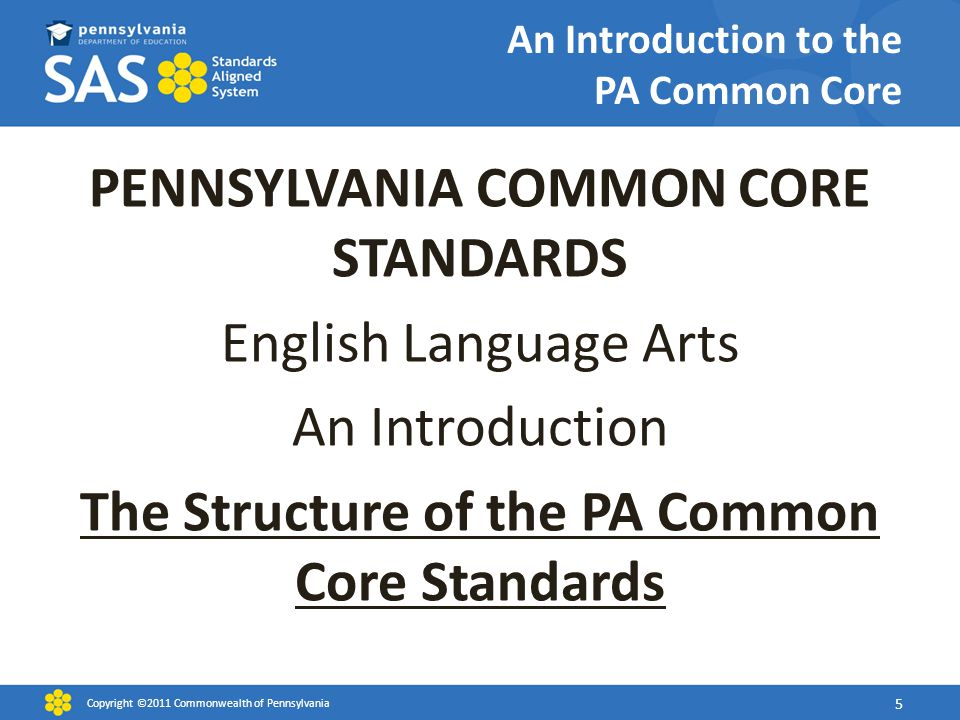 An Introduction to the PA Common Core