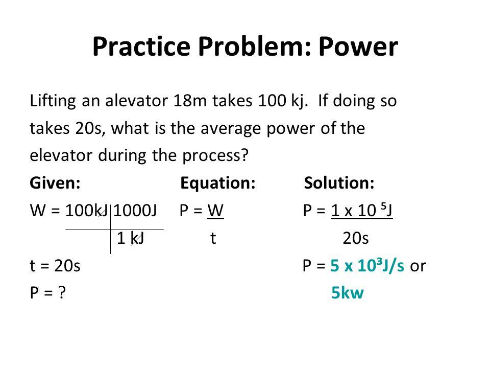 Practice Problem: Power
