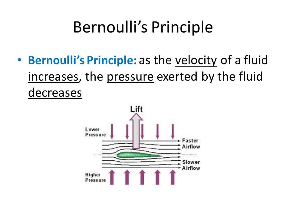 Bernoulli's Principle
