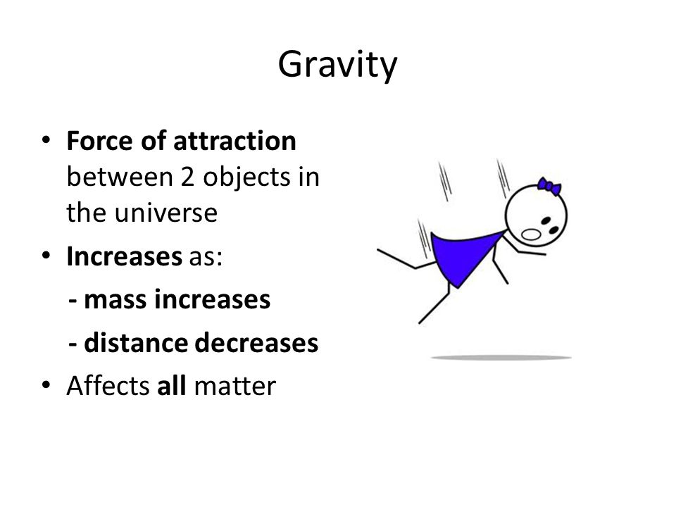 Gravity Force of attraction between 2 objects in the universe