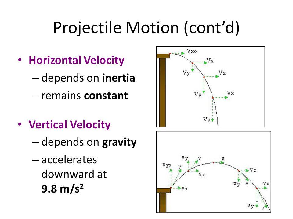 Projectile Motion (cont'd)