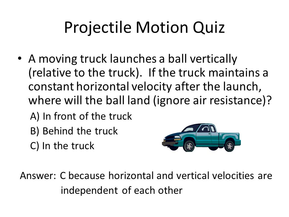 Projectile Motion Quiz