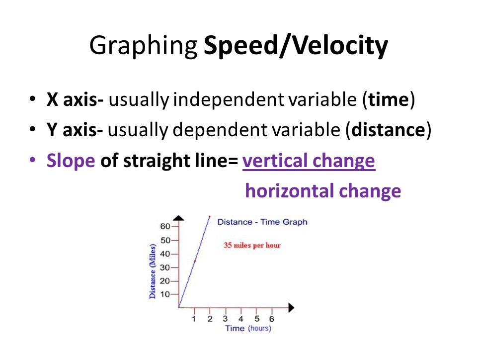 Graphing Speed/Velocity