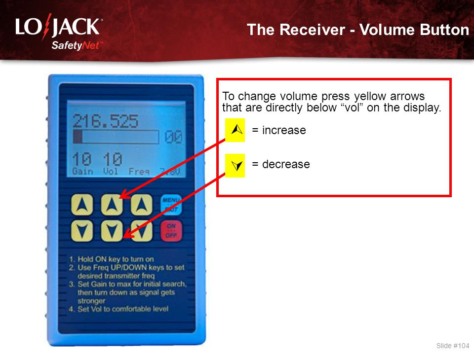 The Receiver - Gain Button