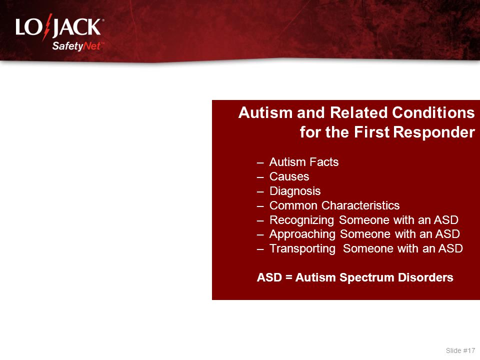 Autism Facts Nearly 1.5 million people live with Autism Spectrum Disorder (ASD) in the United States.