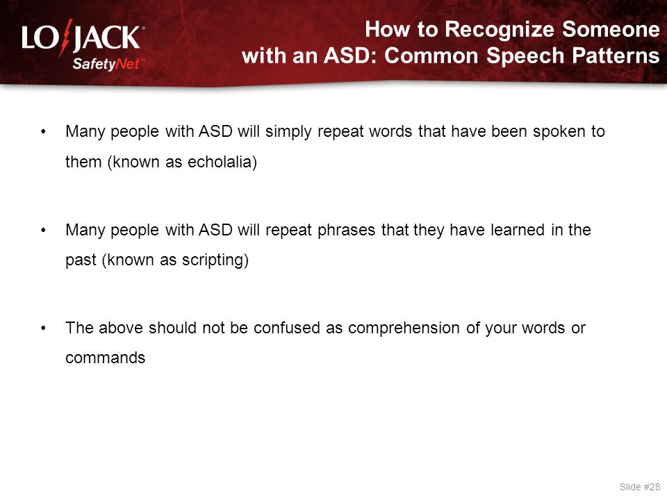 How to Recognize Someone with an ASD: Speech