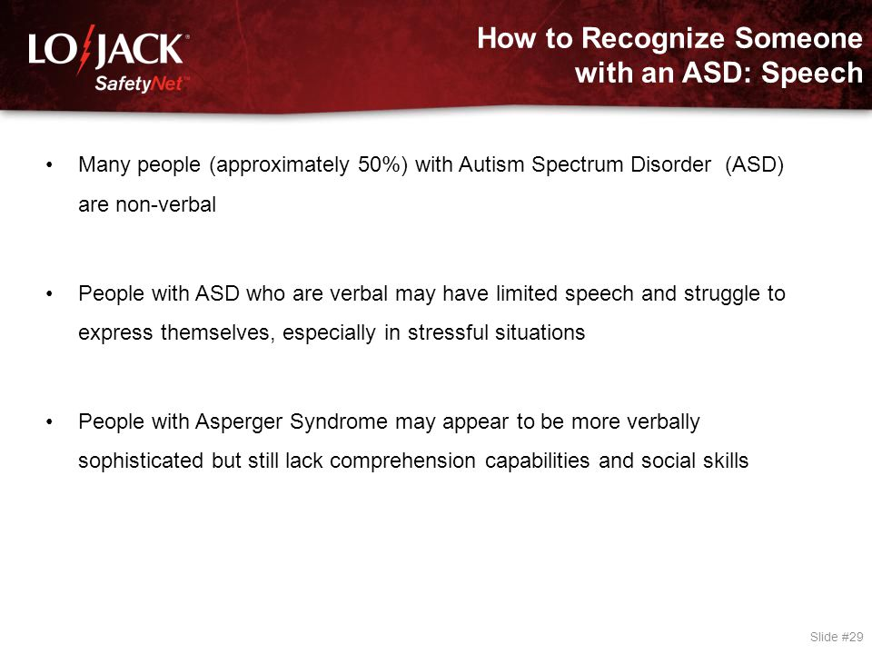 How to Recognize Someone with an ASD: Body Language