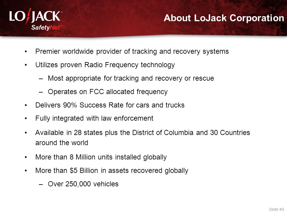 LoJack: Our Mission – Our Vision