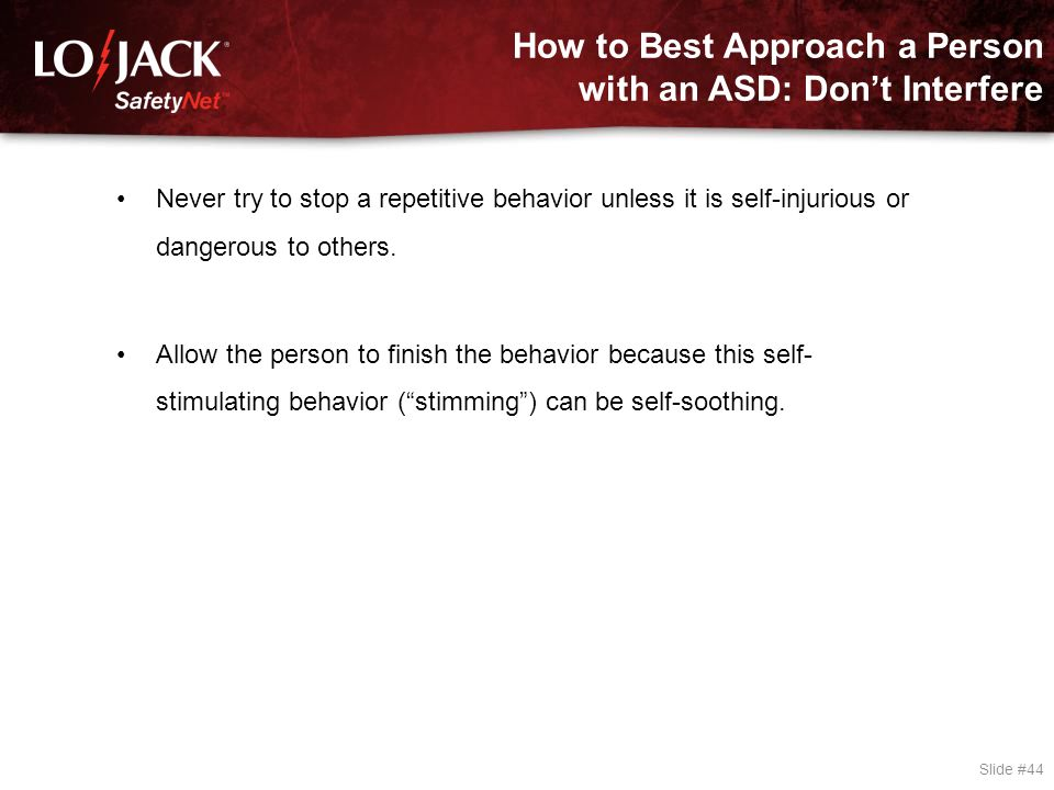 How to Best Approach a Person with an ASD: Approach