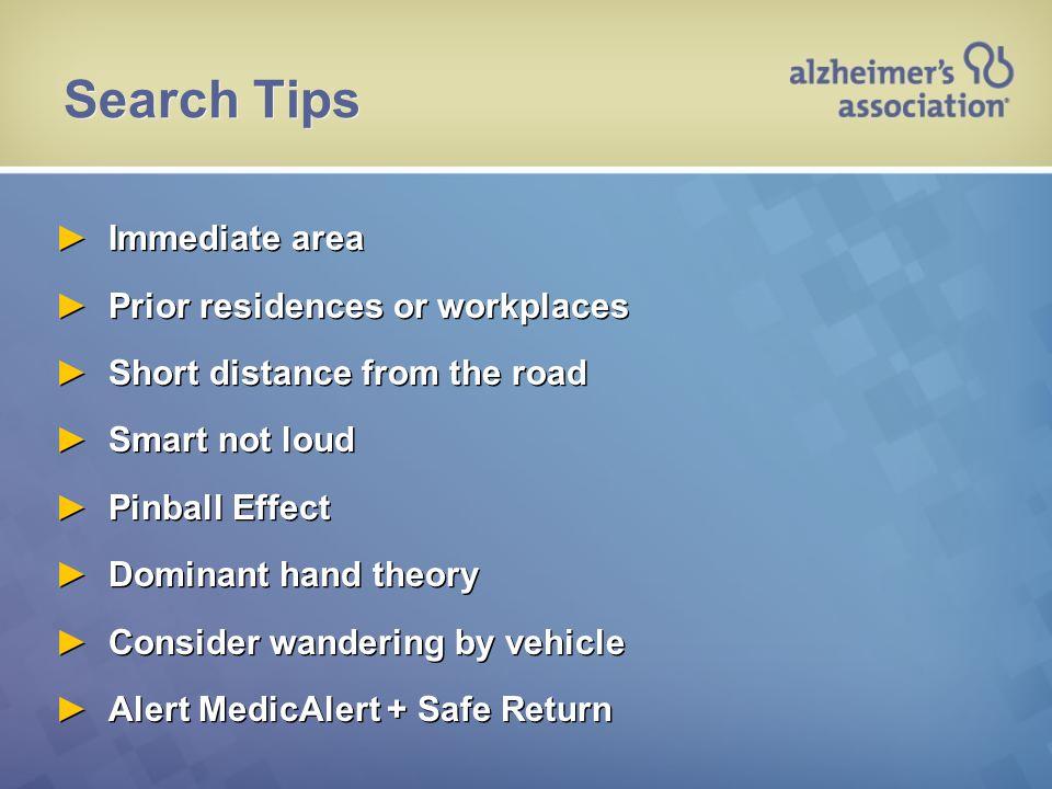 Urban Search—Dementia Profile
