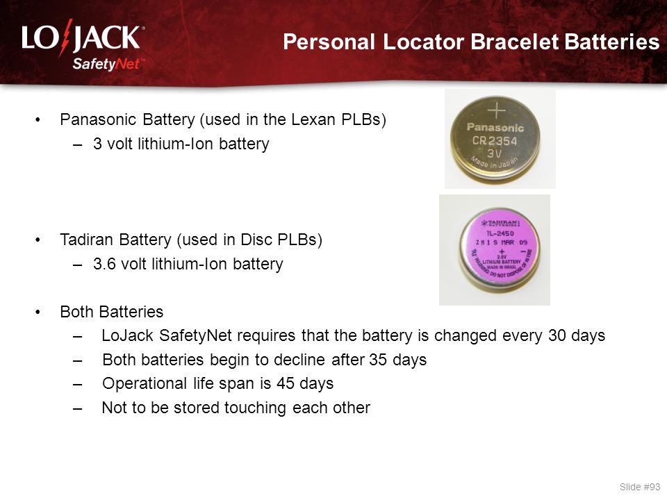 Personal Locator Bracelet Tester