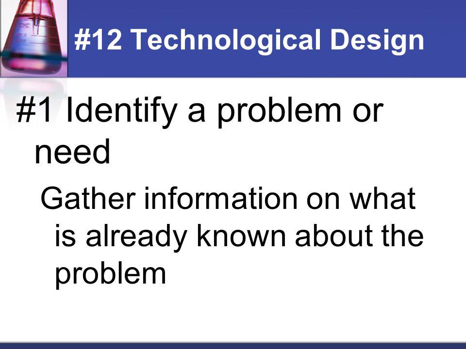 #12 Technological Design