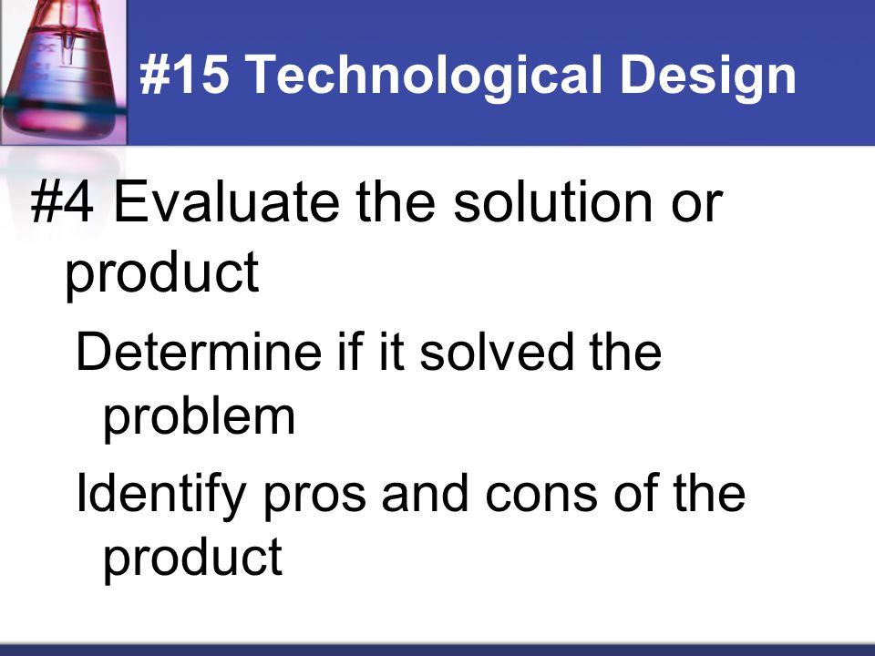 #15 Technological Design