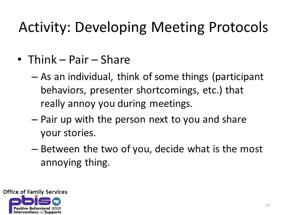 Activity: Developing Meeting Protocols
