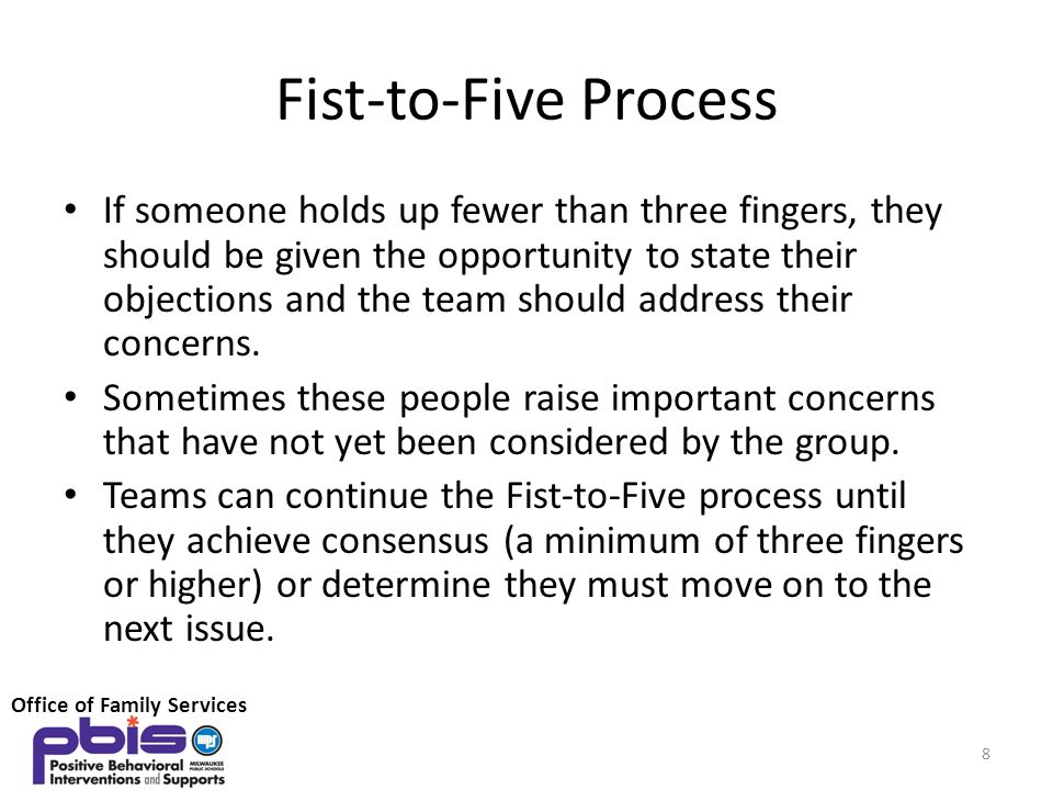 Fist-to-Five Process