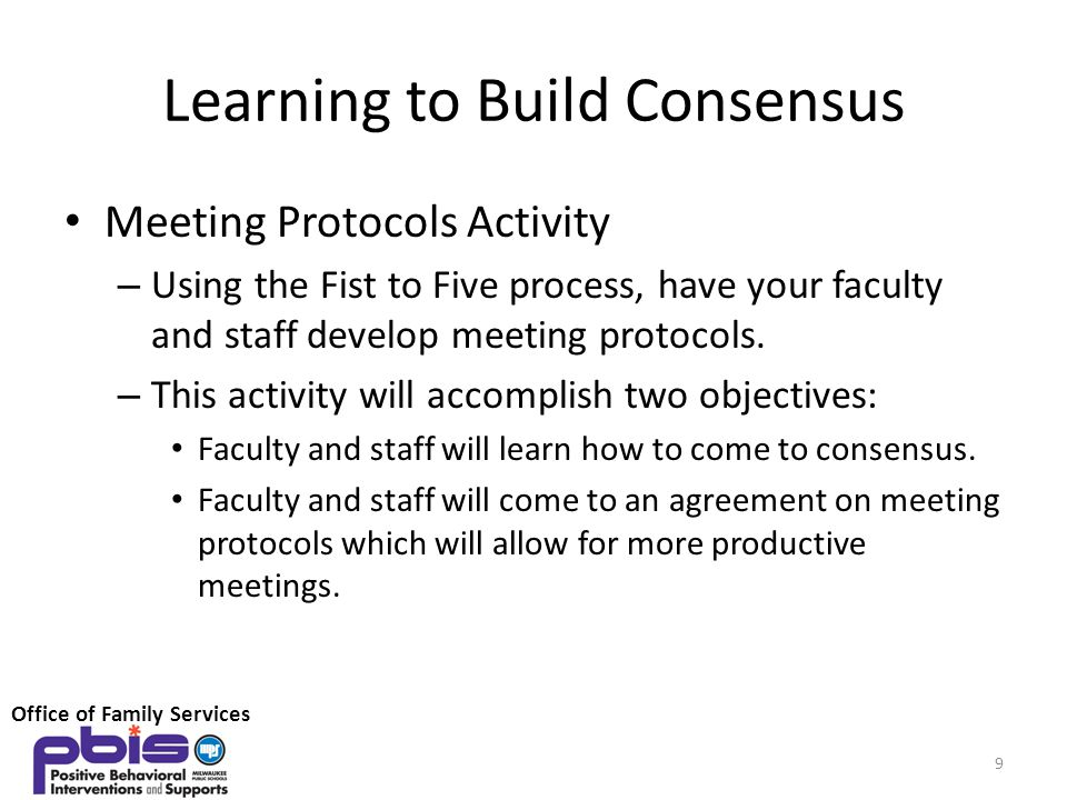 Learning to Build Consensus