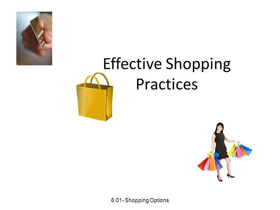 Effective Shopping Practices