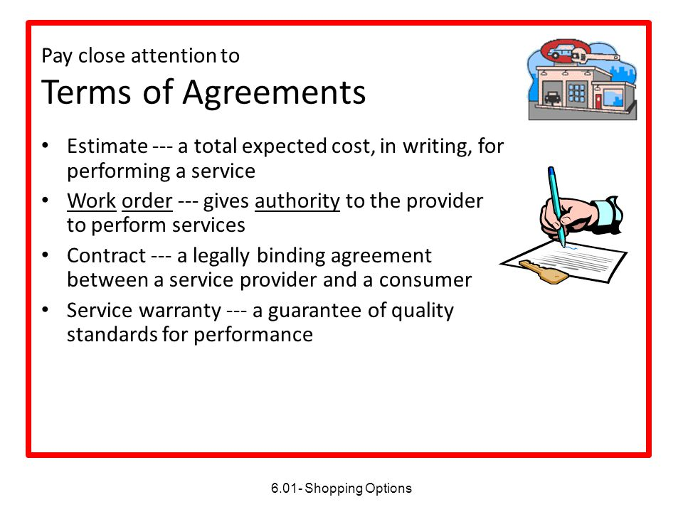 Pay close attention to Terms of Agreements