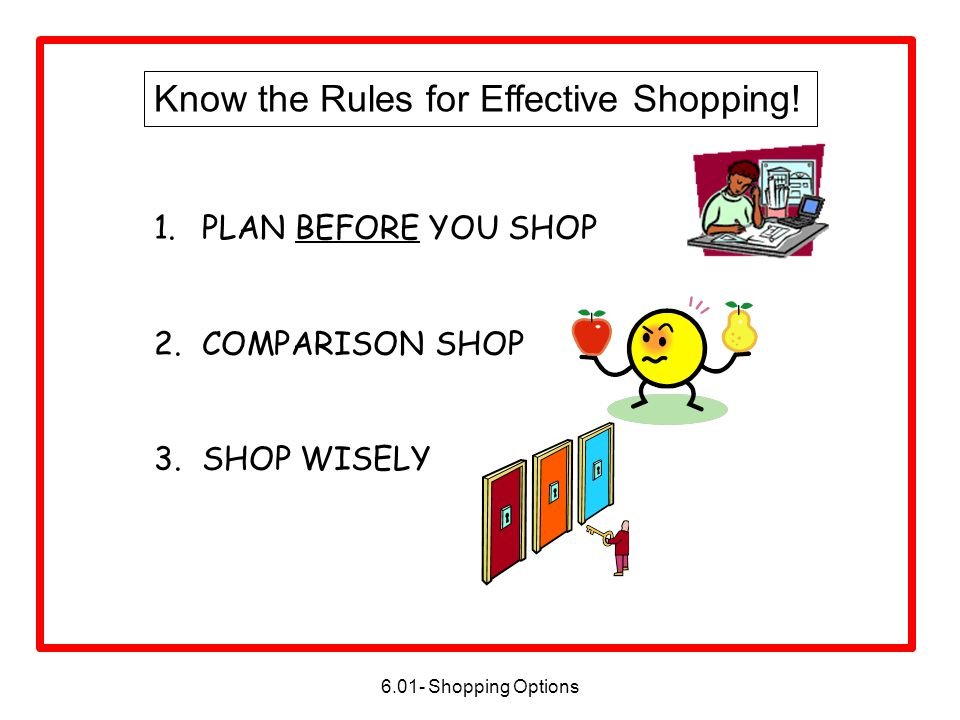 Know the Rules for Effective Shopping!