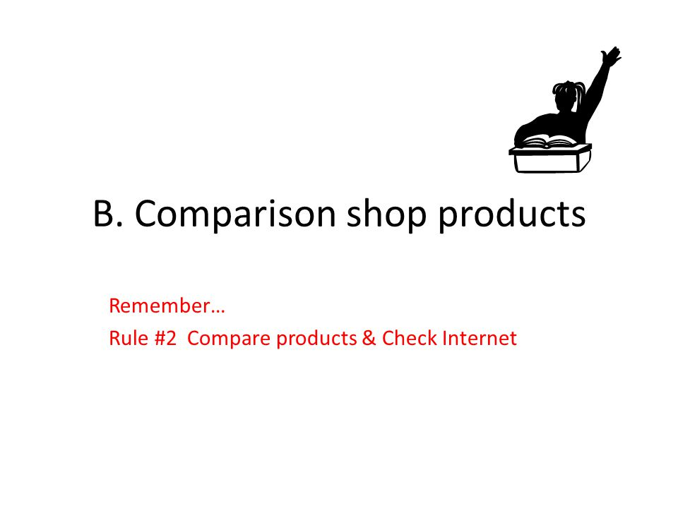 B. Comparison shop products