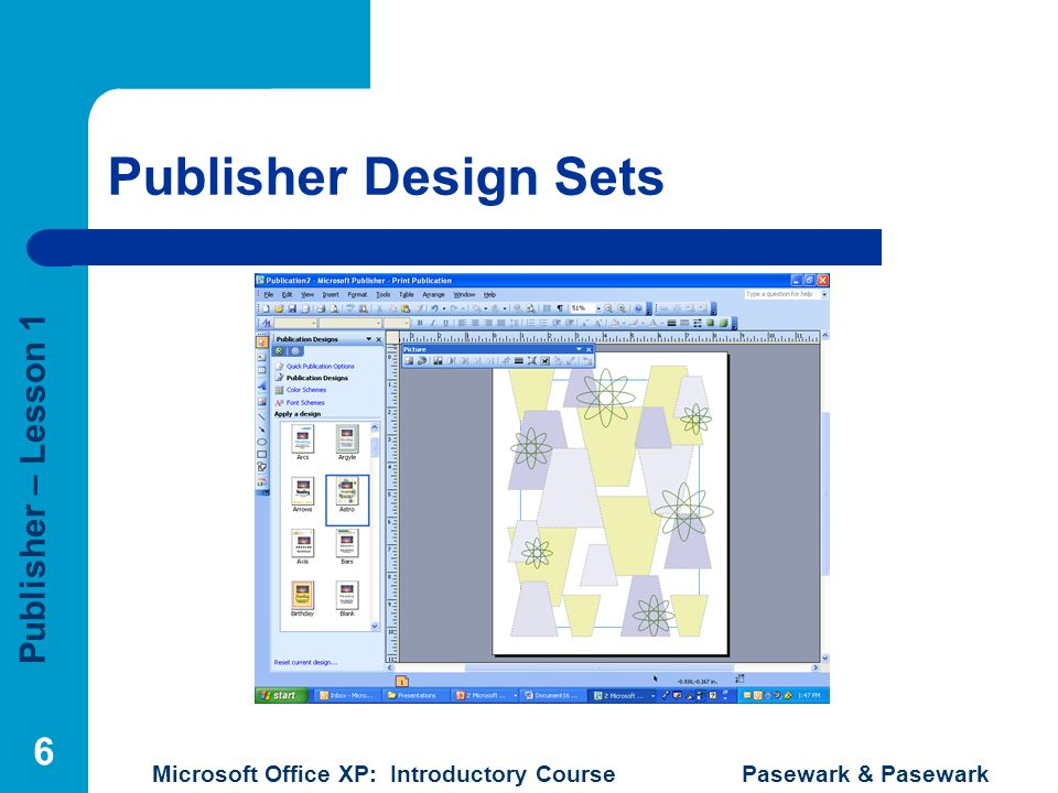 Publisher Design Sets