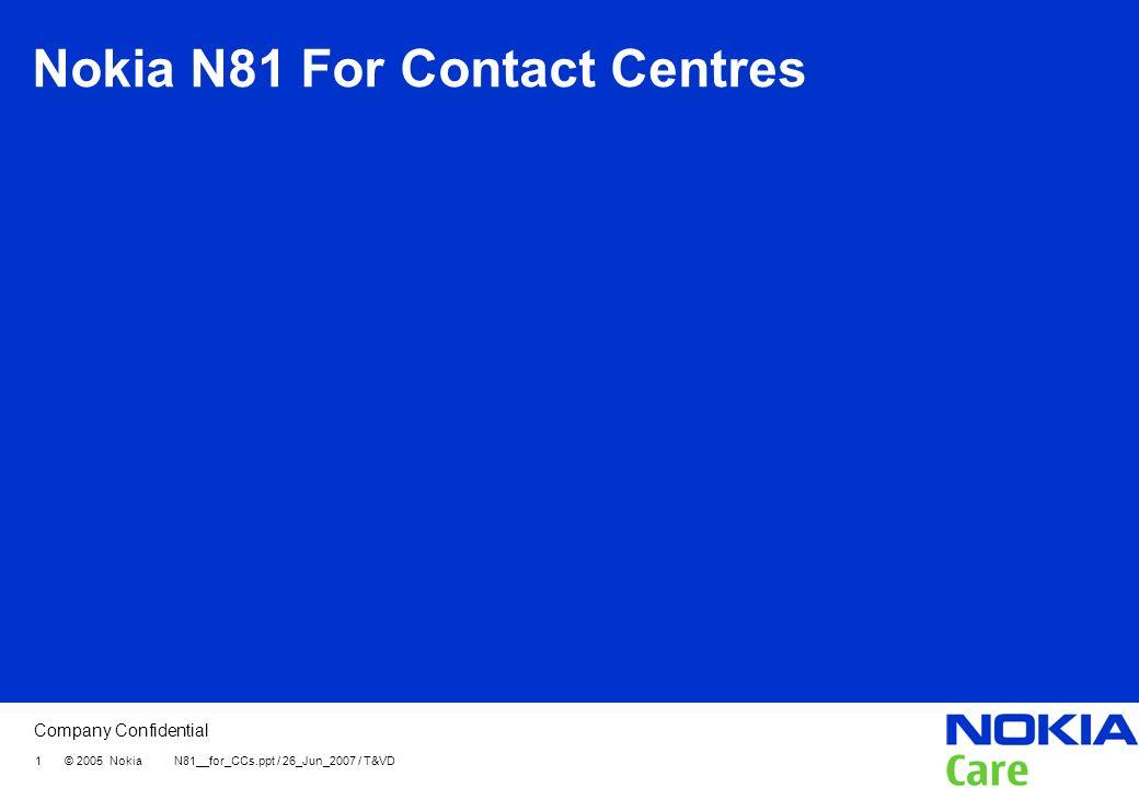 Nokia N81 For Contact Centres