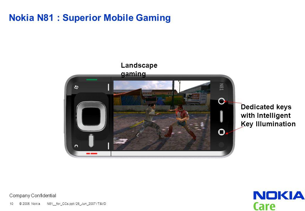 Nokia N81 : Superior Mobile Gaming