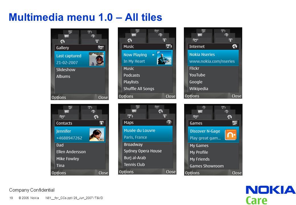 Multimedia menu 1.0 – All tiles